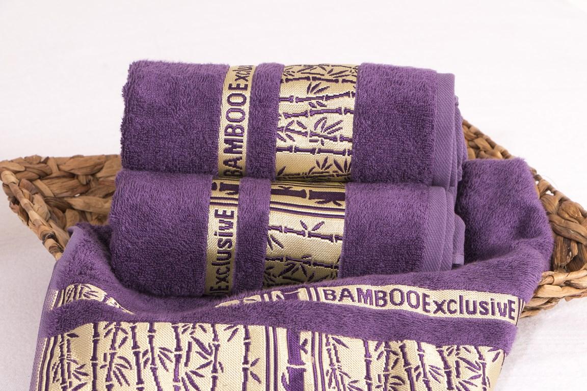 Bambusový ručník Yoona - Fialová, zdroj: RodinneBaleni.cz